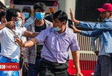 Photo of Myanmar coup: Violence flares as rival protesters clash in Yangon