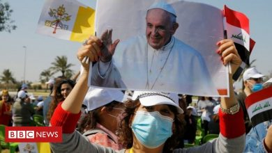 Photo of Pope Francis on Iraq visit calls for end to violence and extremism