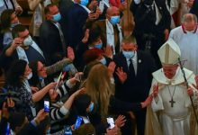 Photo of Pope Francis holds first mass in Iraq