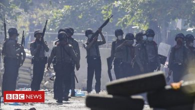 Photo of Myanmar coup: Protesters flee after being 'trapped' overnight