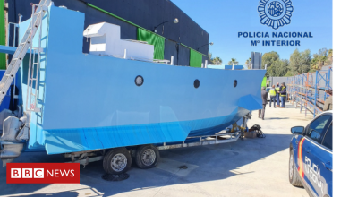 Photo of Spanish police seize narco-submarine in Malaga raid