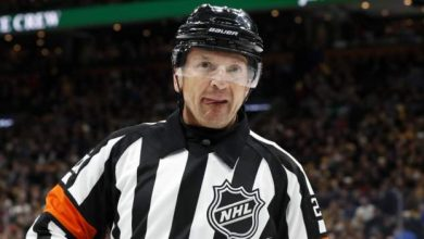 Photo of Ice hockey ref banned after microphone gaffe