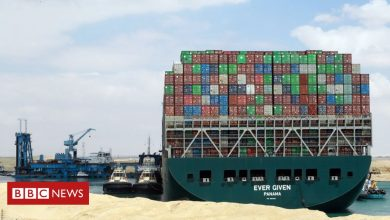 Photo of Suez Canal: Ships stuck in 'traffic jam' as salvage efforts continue