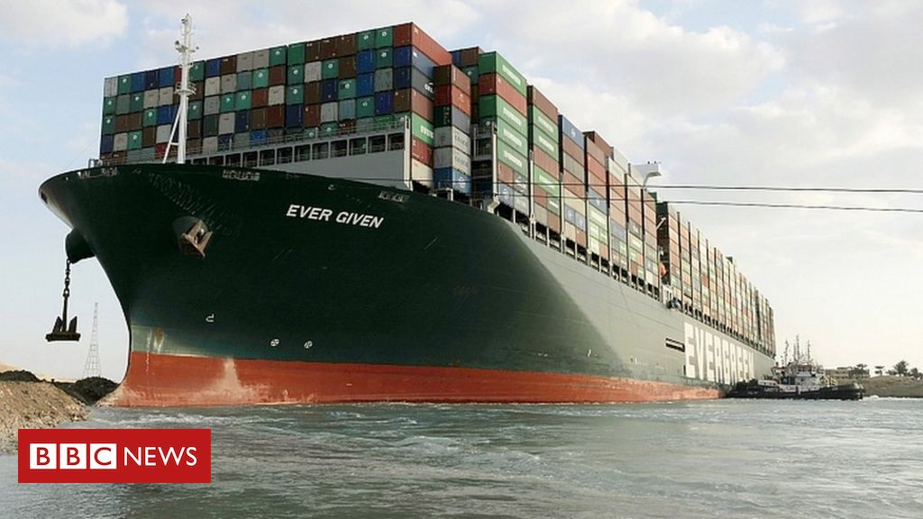 suez-canal:-effort-to-refloat-wedged-container-ship-continues