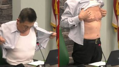 Photo of Moment Asian American army veteran shows his scars