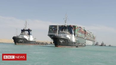 Photo of Suez Canal reopens after giant stranded ship is freed