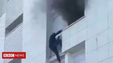 Photo of France fire: Young heroes climb building to save family in Nantes