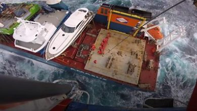 Photo of Dutch crew rescued from 'near-capsize'