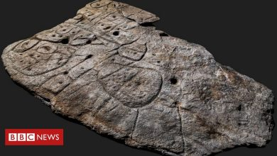 Photo of Bronze Age slab found in France is oldest 3D map in Europe