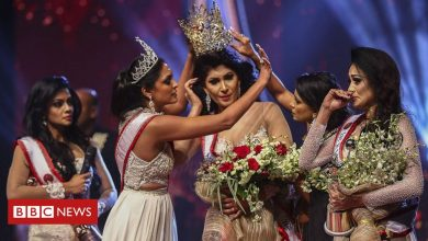 Photo of 'Mrs Sri Lanka' beauty queen injured in on-stage bust-up