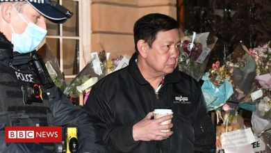 Photo of Myanmar ambassador to UK 'locked out' of London embassy