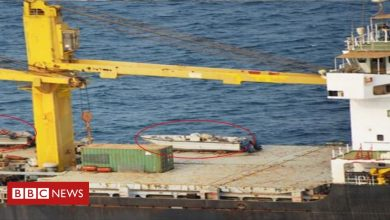 Photo of Iranian 'spy ship' damaged by explosion in Red Sea