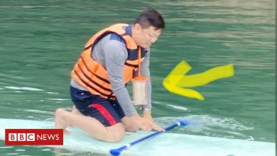 Photo of Taiwan drought: Man retrieves phone dropped in lake a year ago