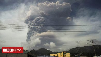 Photo of St Vincent volcano: Power cuts after another 'explosive event'