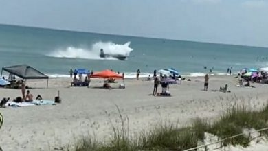 Photo of Plane ditches in ocean during Florida airshow