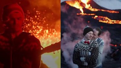 Photo of Iceland volcano eruption: Music video and wedding filmed at Fagradalsfjall