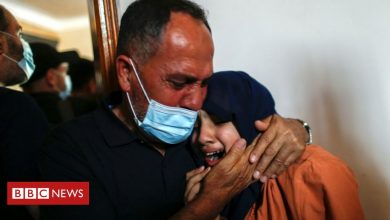 Photo of Israel-Gaza: Locals scramble for cover, some hiding in wardrobes
