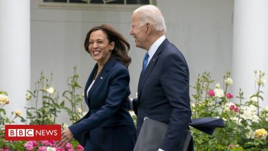 Photo of Covid: Biden hails 'great day' as he sheds mask in Oval Office