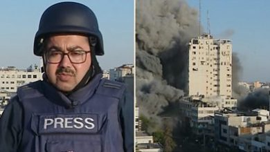 Photo of Israel-Gaza: Strike collapses building during live BBC report