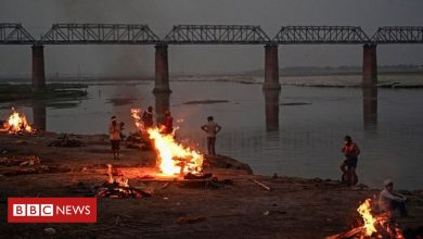 Photo of India's holiest river is swollen with Covid victims
