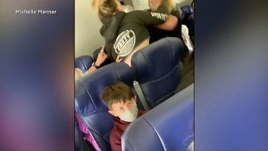 Photo of Footage shows US flight attendant being attacked by passenger