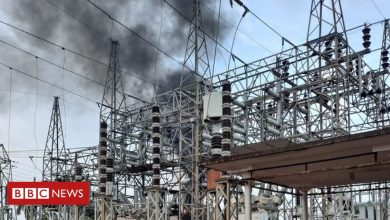 Photo of Puerto Rico blackout after fire at power station