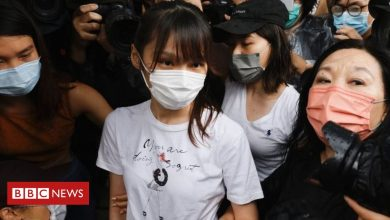 Photo of Hong Kong activist Agnes Chow released from prison