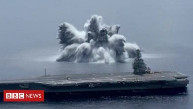 Photo of US Navy uses 40,000lb explosive to test warship in 'Full Ship Shock Trial'