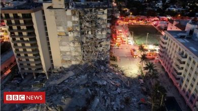 Photo of Miami building collapse: Rescuers listen for signs of life in rubble