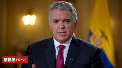 Photo of Colombia President Iván Duque's helicopter hit by gunfire