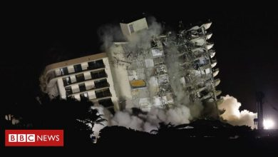 Photo of Miami collapse: Remaining structure demolished over safety fears