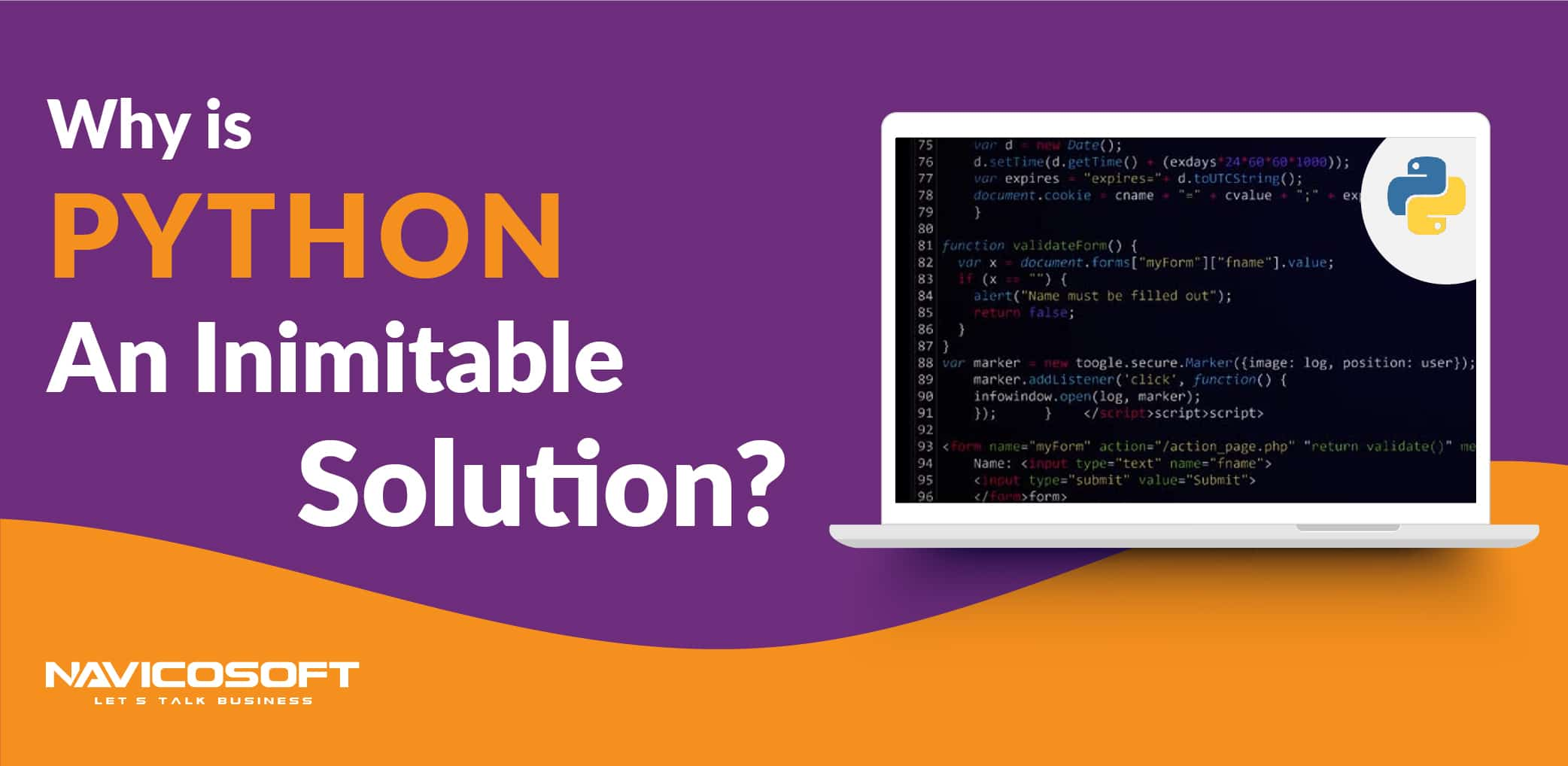 why-is-python-an-inimitable-solution? 