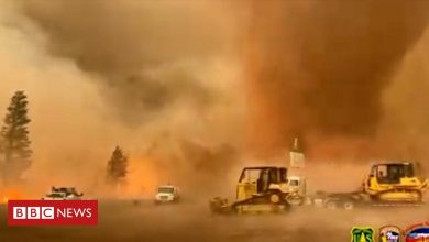 Photo of Powerful fire tornado in California is latest extreme weather sign