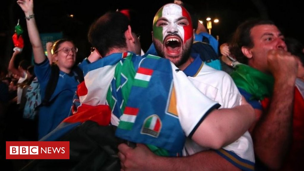 euro-2020:-italy-fans-ecstatic-after-england-defeated-in-wembley-final