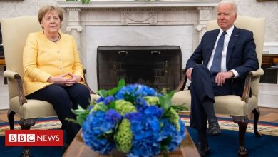 Photo of Biden and Merkel 'united against Russia aggression'
