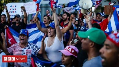 Photo of Floridians rally in support of Cuban protesters