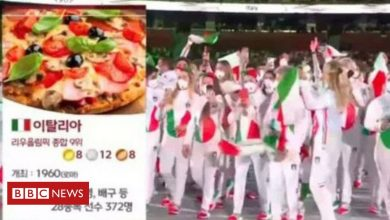 Photo of Tokyo 2020: S Korea TV sorry for using pizza to depict Italy