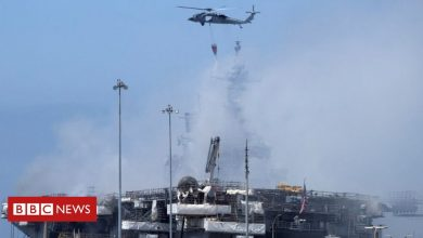 Photo of US sailor charged over massive USS Bonhomme warship blaze in 2020
