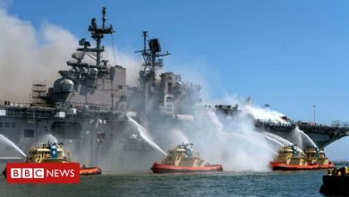 Photo of USS Bonhomme Richard fire: Suspect identified as 20-year-old Navy sailor