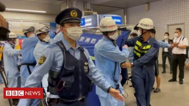 Photo of Tokyo attack: Knife-wielding man injures 10 on train