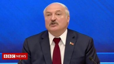Photo of Lukashenko: 'You can choke on your sanctions in the UK'