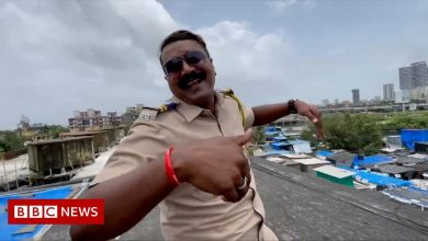 Photo of India's dancing cop becomes internet star