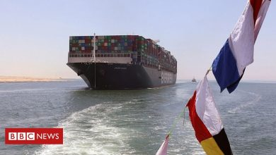 Photo of Ever Given: Cargo ship returns through Suez Canal it blocked