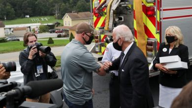 Photo of Biden commemorates 9/11 anniversary with stops at all three attack sites