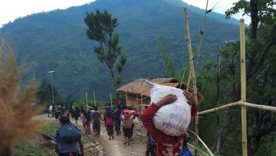 Photo of Myanmar town near India border sees exodus as thousands flee fighting
