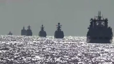 Photo of Russian, Chinese warships hold first joint patrols in the Pacific